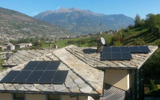 Nuovo impianto fotovoltaico Comune di Jovencan (AO)